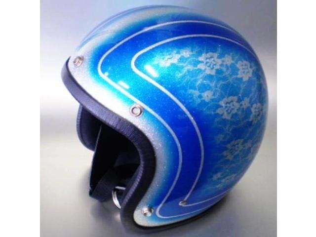 パーツ TACHIBANA ジェットヘルメット SUNBURST 3の写真1