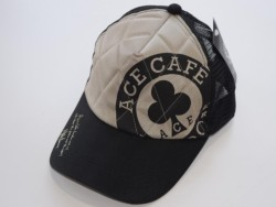 ACE CAFE LONDON ナイロンメッシュCAP L-Logo WH